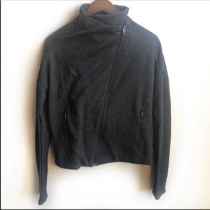 Adidas black full zip athletic jacket